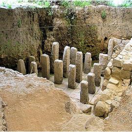 Foto del suelo radiante que se usaba en la época romana