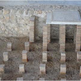 Foto del suelo radiante que se usaba en la época romana 2